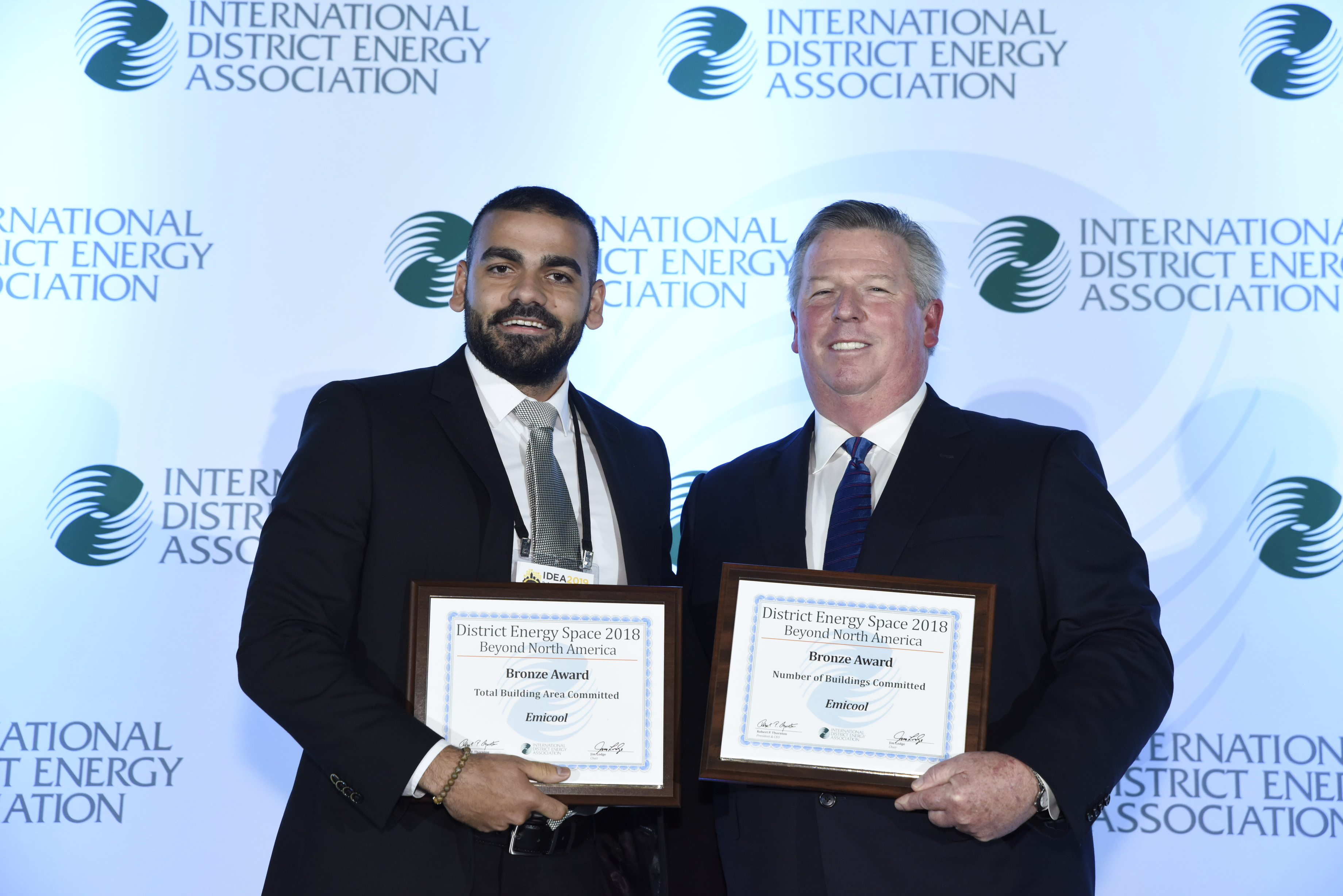 Representative From Emicool Receiving The Award At Pittsburgh, USA